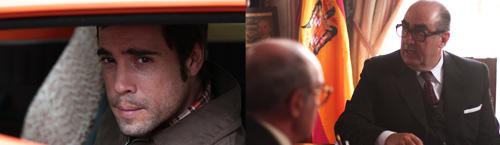 Imágenes del rodaje con Unax Ugalde y José Ángel Egido